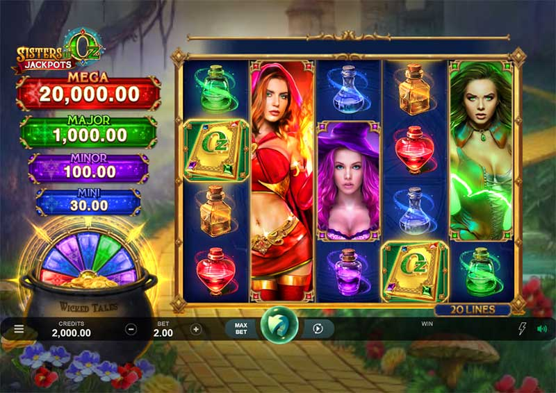 How to play Mysterious Sisters Of Oz Jackpots At Mega888